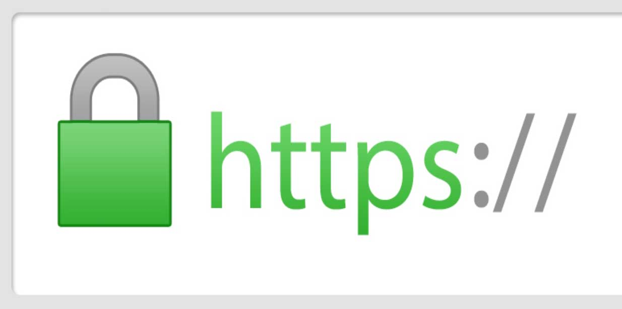 Padlock indicator for secure website